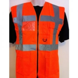 Executive Vest orange High Visibility Safety Vests