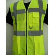 Executive Vest yellow High Visibility Safety Vests