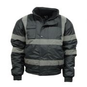 Lincoln Black Parka Jacket High Visibility
