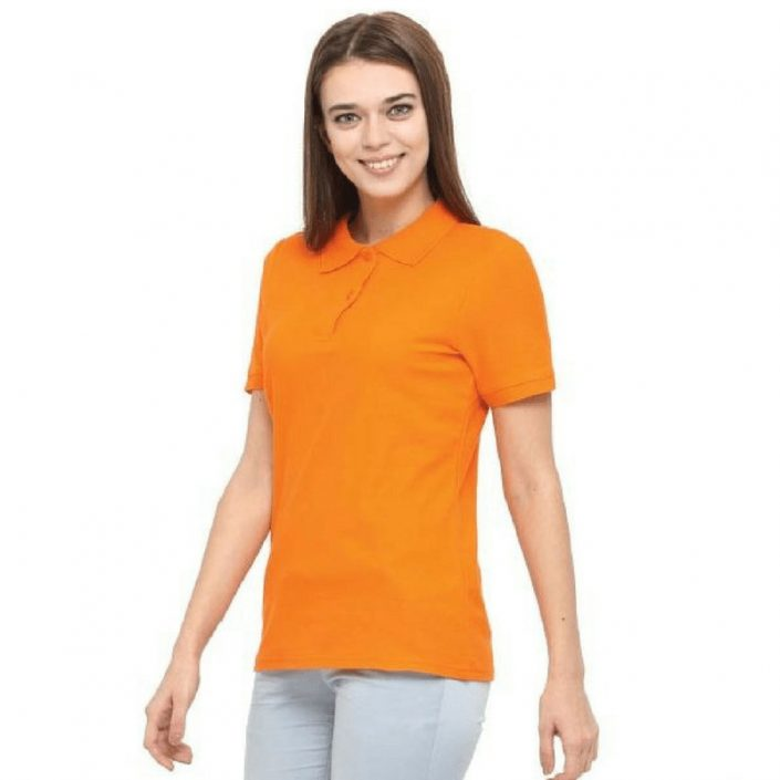 Womens Short Sleeved Polo Cotton Shirt-WPS140